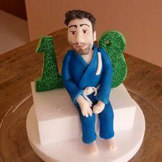 Judo player cake topper