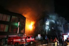 News in Pictures: 16 People Dead As Massive Fire Rips Through Gym And Traps People