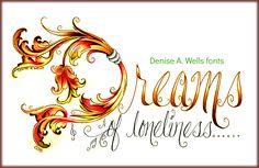 Dreams Tattoo Design by Denise A. Wells. Tattoo lettering fonts by Denise A. Wells, Fonts by Denise, Denise Tattoos, Dreams Tattoo, Denise A. Wells, Tattoo, Tattoo Designs, Unique Lettering, Ornate letter D, Fancy Letter D, Unique letter D, Letter D.