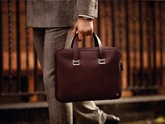 Autumn Winter 2013 | Make an impression with the classic Bourdon Brown Briefcase.