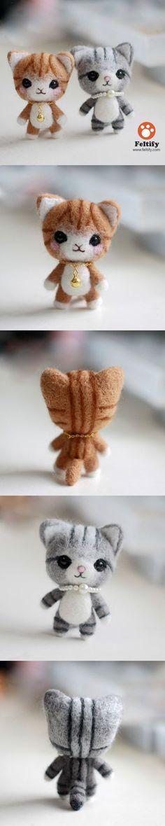 Handmade Needle felted felting animal cute cat kitten felted wool doll...    Handmade Needle felted felting animal cute cat kitten felted wool doll  Source by Feltify   - http://newsyork.gq/handmade-needle-felted-felting-animal-cute-cat-kitten-felted-wool-doll/