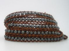 Chan Luu Inspired five wrap bracelet by BeadsLeatherbyCoCo on Etsy, $80.00