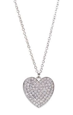 Deb Shops short #necklace with stone covered #heart $8.17
