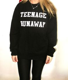 Teenage Runaway Sweatshirt (Black)