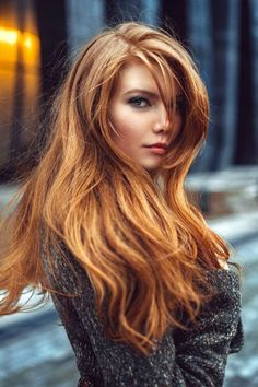 Great hair Great color Beautiful young lady