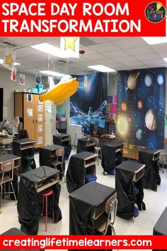 Check out this fun outer space classroom transformation for elementary students in first, second, third, fourth, fifth grade. This space room transformation will set the stage to engage and is a classroom transformation idea. It's a worksheet or escape room alternative, and can be used in small groups or partners. 1st, 2nd, 3rd, 4th, 5th graders enjoy ideas & themes. Digital and printables (Year 1,2,3,4,5) Aligns with common core math #setthestagetoengage #classroomtransformation #mathactivities