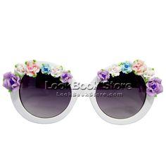 Women Embellished Shaped Rose Semi Transparent Gradient Lenses Sunglasses en vente sur eBay.fr (fin le 10-mai-13 04:16:20 Paris)
