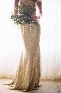 Gorgeous gold glitter gown