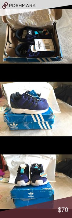 Adidas ZX FLUX I (galaxy) Brand new, never worn, still in the box..!! I love this shoes.. bought it in kids size by accident. 😪🤦🏽♀️ Adidas Shoes Sneakers