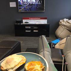 Casey Kopua #regram : Lunch + recovery boots + NBA finals = Gud afternoon