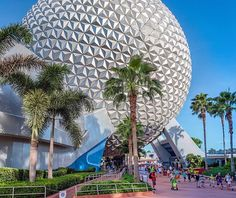 Spaceship Earth Fun Fact!!..... it is not a real spaceship!! 😱 #Misleading #DisneyMyths