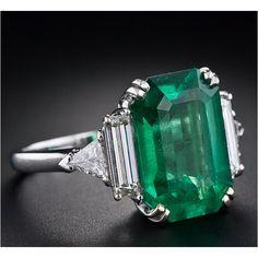 re:pin BKLYN contessa :: elongated emerald cut diamond baguettes