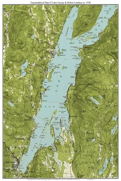 Lake George 1904 USGS Old Topographic Map Custom Composite New
