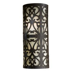 Great Outdoors by Minka Spazio Energy Star  Outdoor Wall Mount in Iron Oxide