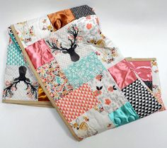 Woodland Baby Quilt Woodland Nursery by OutOfCharacterQuilts - Modern