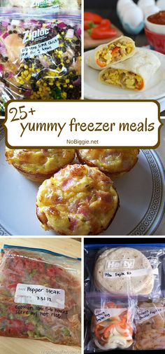 25+ yummy freezer meals. I love planning my meals ahead of time, it makes dinner time a breeze!