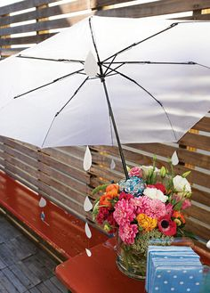April Showers Bring May Flowers (love this centerpiece idea)