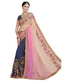 Buy Now Multicolour Embroidery Work Georgette Half-Half Fancy Saree only at Lalgulal.com. Price :- 2,552/- inr. To ‪#‎Order‬ :- http://goo.gl/i06U4H To Order you Call or ‪#‎Whatsapp‬ us on +91-95121-50402 COD & Free Shipping Available only in India.