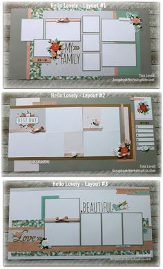 Scrapbooking Kits: Hello Lovely 6-Page Scrapbook Kit - $28
