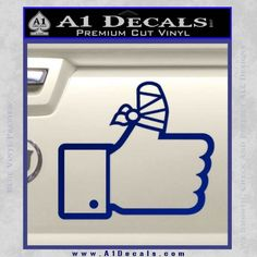 Facebook Like Decal Sticker Busted Thumb
