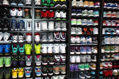 Between the both of us, we need a closet maybe even a room like this just for our shoes!! Lol
