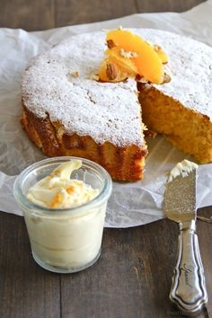 Gluten-Free desserts . Gluten-Free Orange And Almond Cake With Mascarpone