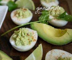 Guacamole and deviled eggs! It's GENIUS!!!