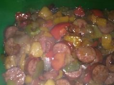 Sweet and sour turkey sausage