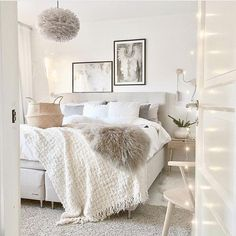 white design light countryside style bedroom