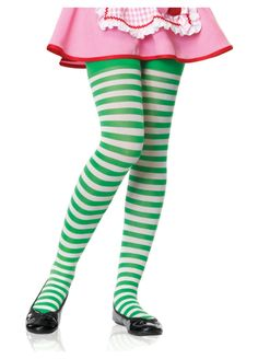 years Girls White And Green Striped Tights by Leg Avenue child fancy dress Childrens Fancy Dress, Fancy Dress For Kids, 13 Year Girl, Orange And Purple, Yellow, Striped Tights, Leg Avenue, Funny Halloween Costumes, Green Stripes