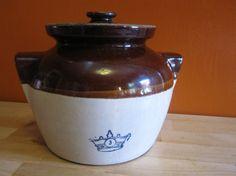 Antique Robinson Ransbottom RRP Co Bean Pot by LuckySevenVintage, $75.00