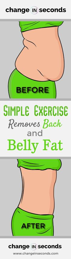 Simple Exercise Removes Back And Belly Fat! Get flat abs with this great at home easy exercise! #flatabs, #losebellyfat, #abworkout, #abworkouts, #flatstomachworkout, #backfatexercises, #backfatworkout, #coreworkout, #fitnesstips, #fitnessbody, #femalefitness, #fitnessmotivation, #athomeworkout Back Fat Workout, Full Body Workout At Home, Workout For Flat Stomach, Flat Abs, Wall Workout, Hitt Workout, Plank Workout, Workout Diet, 30 Day Plank Challenge For Beginners
