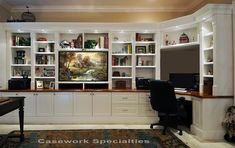 Home office wall units wall unit with desk and bookcases bookcase desk wall unit corner desk . home office wall units Desk Wall Unit, Built In Wall Units, Bookcase Wall Unit, Built In Desk, Built Ins, Ikea Bookcase, Desk Shelves, Tv Shelving, Bookcase Organization