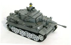 The MECHANIZED BRICK custom designed LEGO German military Tiger I heavy panzer tank model kit includes all the parts to build the model, printed assembly guide, custom German Army minifig and decal sheet. Lego Ww2 Tanks, Legos, Construction Lego, Lego Army, Lego Boards, Lego Mecha, Cool Lego Creations, Lego Toys, Lego Design