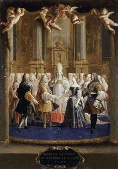 Marriage of Louis XV and Marie Lezynska at Fontainebleau, 5th of September, 1725
