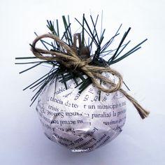 #Bochas #Navideñas #Decoración #Navidad #Newspaper — Cutefy.com