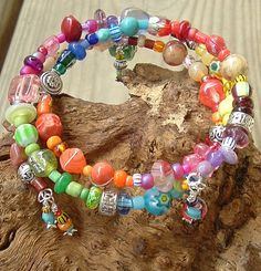 Layered Bohemian Gypsy Wrap Bracelet Multi Color by BohoStyleMe
