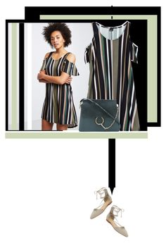"""""""T-shirt dress"""" by noconfessions ❤ liked on Polyvore featuring Schutz, Chloé and shirtdress"""