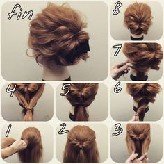 Skip to content 54 cute easy updos for long hair when in a hurry Classy to Cute: Easy hairstyles for long hair for 2017 The light chignon Sweet updos for long hair Easy Bun Hairstyles, Amazing Hairstyles, Step Hairstyle, Hairstyles 2018, Evening Hairstyles, Casual Hairstyles, Indian Hairstyles, Kinky Hairstyles, Easy Formal Hairstyles