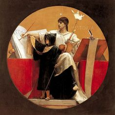 """Historia Nikolaos Gyzis (Greek, Oil on panel. History (from Greek ἱστορία - historia, meaning """"inquiry, knowledge acquired by investigation"""") is the study of the human past. Illustration Arte, Illustrations, Auguste Herbin, Gustav Klimt, Art Chinois, Georges Seurat, Art Japonais, Its Nice That, Pre Raphaelite"""