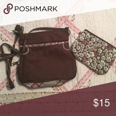 Thirty one Purse with matching makeup bag. Excellent condition! Thirty one Bags Crossbody Bags