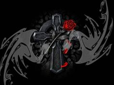 Pix for cool cross with wings wallpaper wallpapersthemesect find this pin and more on cool art and pictures by medina1968ramon voltagebd Images