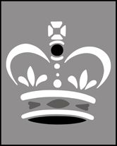 Budget Crown  stencils, stensils and stencles