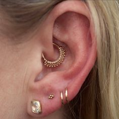 "955 Likes, 8 Comments - Rose Gold's Tattoo & Piercing (@rosegoldsf) on Instagram: ""Collab with a @bvla Auron daith piercing by @perrymdoig and a lovely double lobe by @cassisoclassy…"""