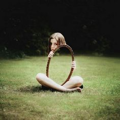 Perspective- The girl behind the mirror or is it the mirrored girl? Wow