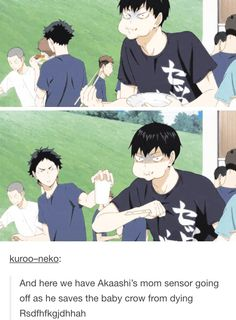 Oh kageyama you're so hopeless XD and thank you mama Akaashi for not letting this bean die ^_^