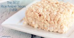 This is the BEST Rice Krispie Treat Recipe EVER! These treats are ooey gooey goodness! You will not go back to the original recipe, trust me!