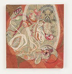 """""""Soft Painting Damasco"""" painel em tecidos sobre chassis de madeira (panel made…"""