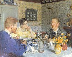 Peder Severin Krøyer, A Luncheon. The Artist, his Wife and the Writer Otto Benzon - Hirschsprung Collection, Copenhagen, Denmark Stavanger, Skagen, Moritz Von Schwind, Paint Themes, Google Art Project, Scandinavian Art, Art Database, Art Google, Love Art