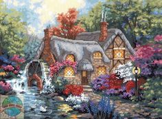 Cottage Mill by Dimensions, counted cross stitch kit